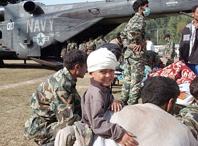 Injured Pakistani boy